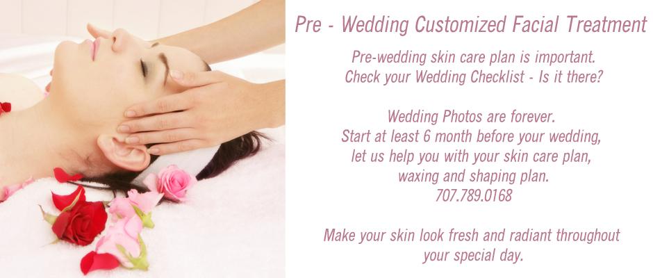 Pre Wedding customized facials at Florencia Petaluma SPA