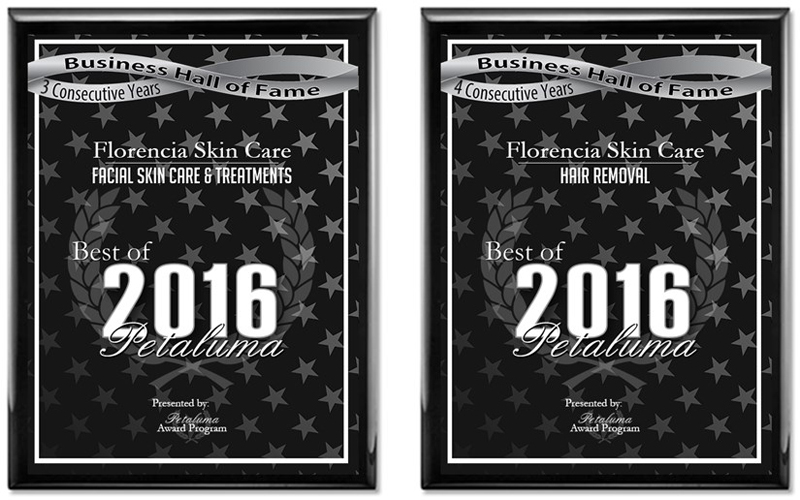 2016 Award Florencia Skin Care in Hair Removal Category and Facial Skin Care & Treatment Category