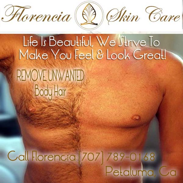 Mens Body Waxing Hair Removal Call Florencia Skin Care 707 789